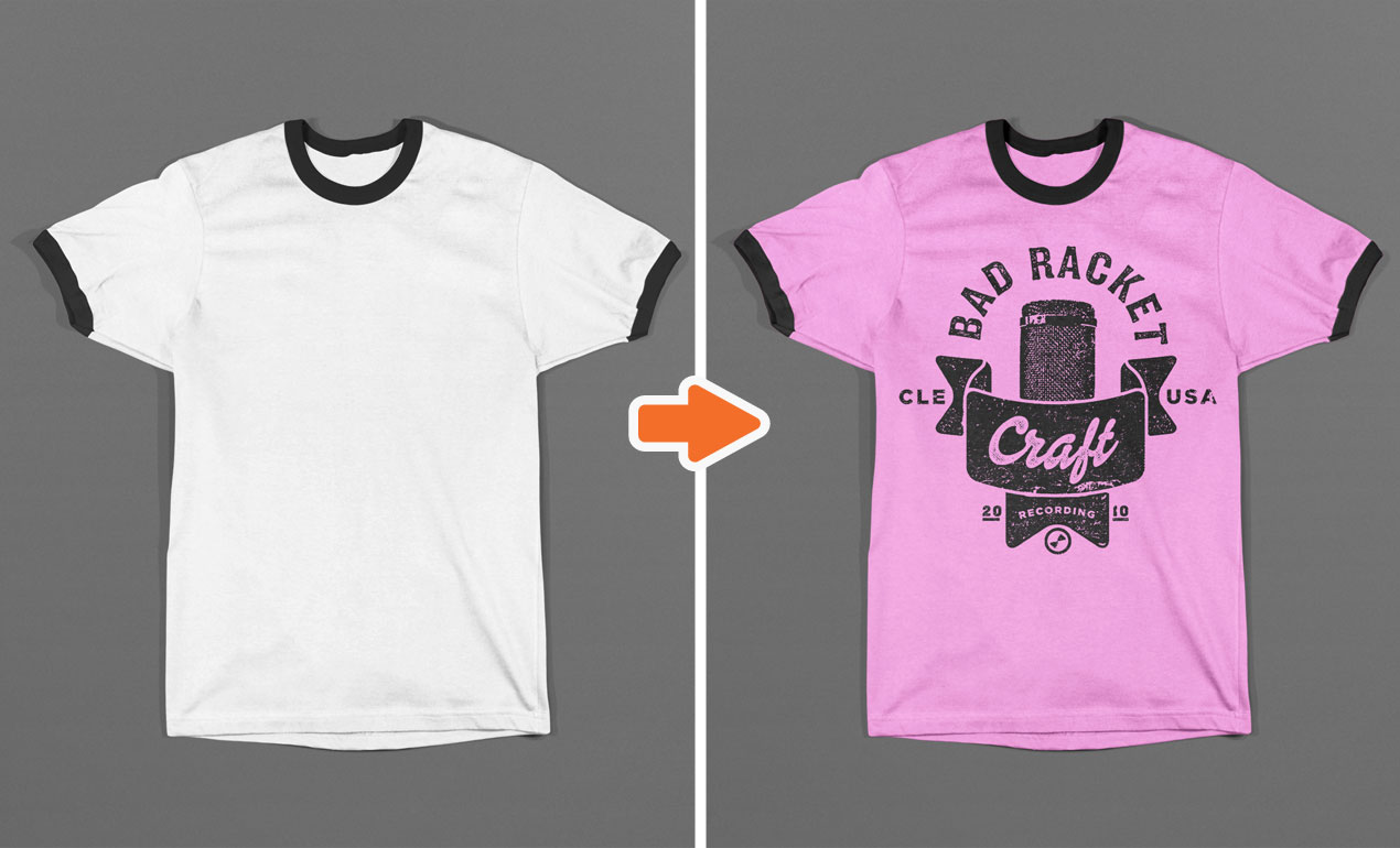 Photoshop Ringer T Shirt Mockup Templates Pack ringer4