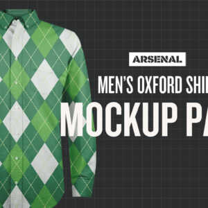 Men's Oxford Shirt Mockup Template Pack
