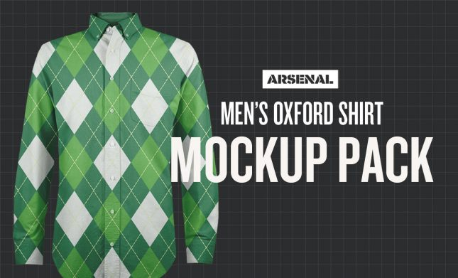 Men's Oxford Shirt Mockup Template Pack