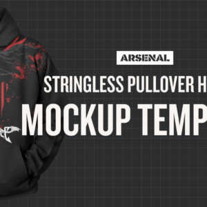 Stringless Hoodie Mockup Template Pack