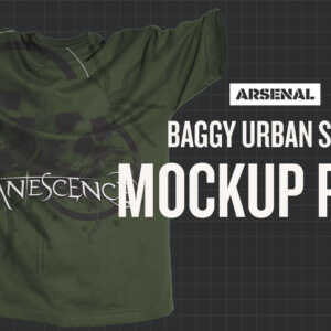 Photoshop Baggy Urban Shirt Mockup Templates Pack