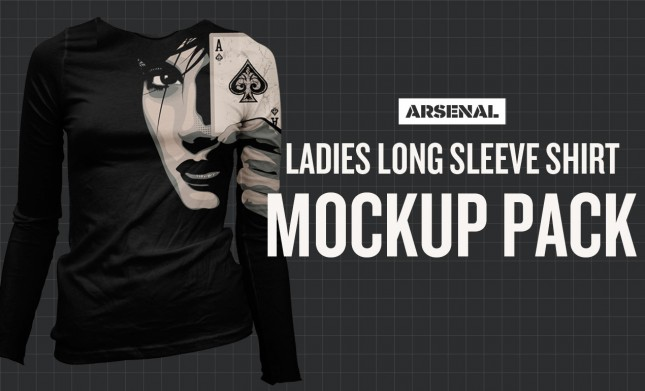long sleeve shirt mockup