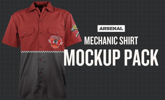 mechanic shirt mockup
