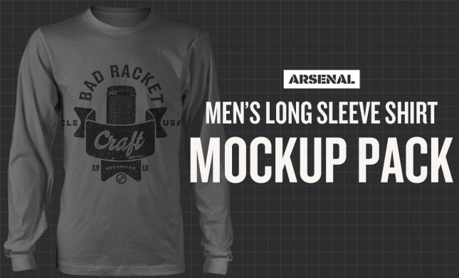 Men's Long Sleeve Shirt Mockup Templates Pack
