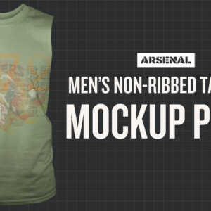 Non-Ribbed Tank Top Mockup Templates Pack