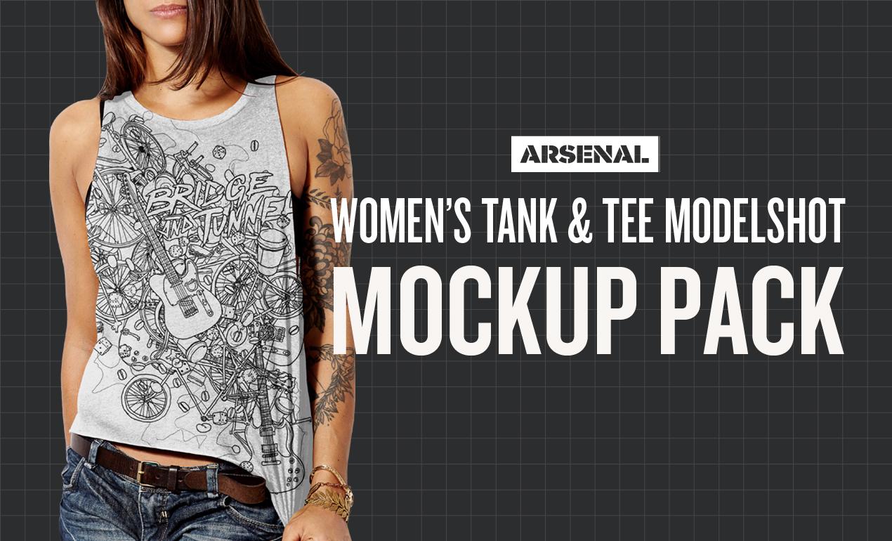 women's modelshot mockup templates
