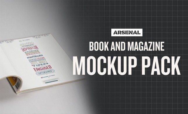 Photoshop Book & Magazine Mockup Templates Pack
