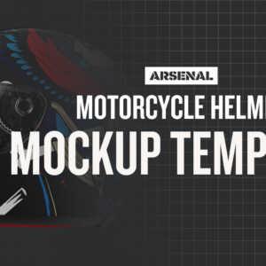 Motorcycle Helmet Mockup Template by Go Media