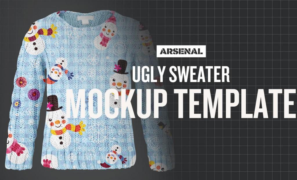 Free Ugly Christmas Sweater Mockup Template