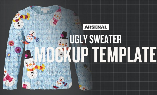 Free Ugly Christmas Sweater Mockup Template