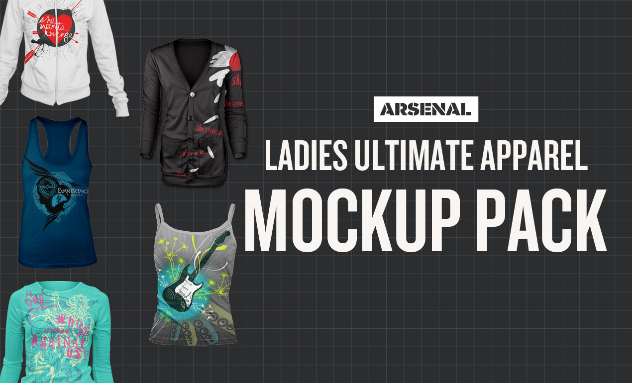 Ladies Ultimate Mockup Apparel Pack