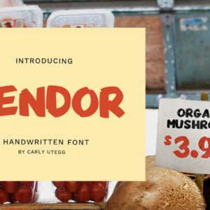 Vendor Handwritten Font