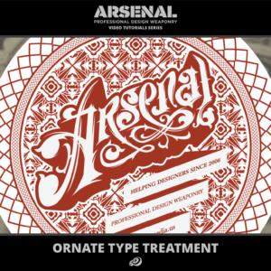 Ornate Type Treatment Video Tutorial for Adobe Illustrator