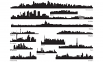 Skylines vector pack
