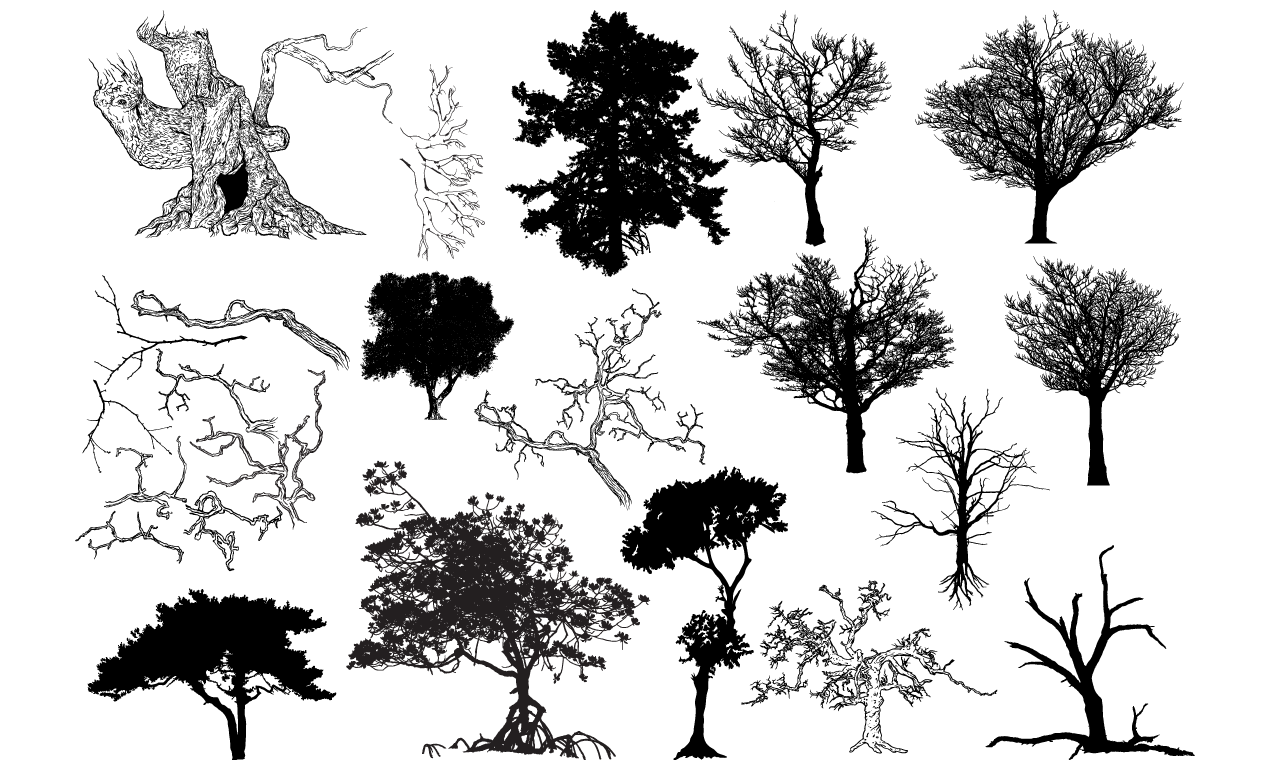Tree Vector Shapes Pack - 2