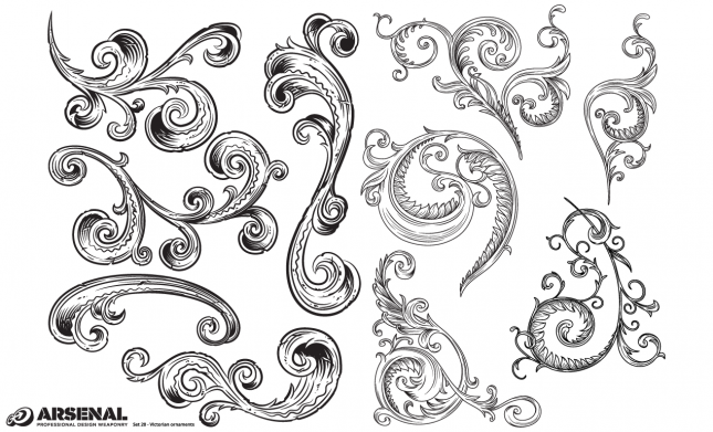 Ornaments Victorian Vector Pack