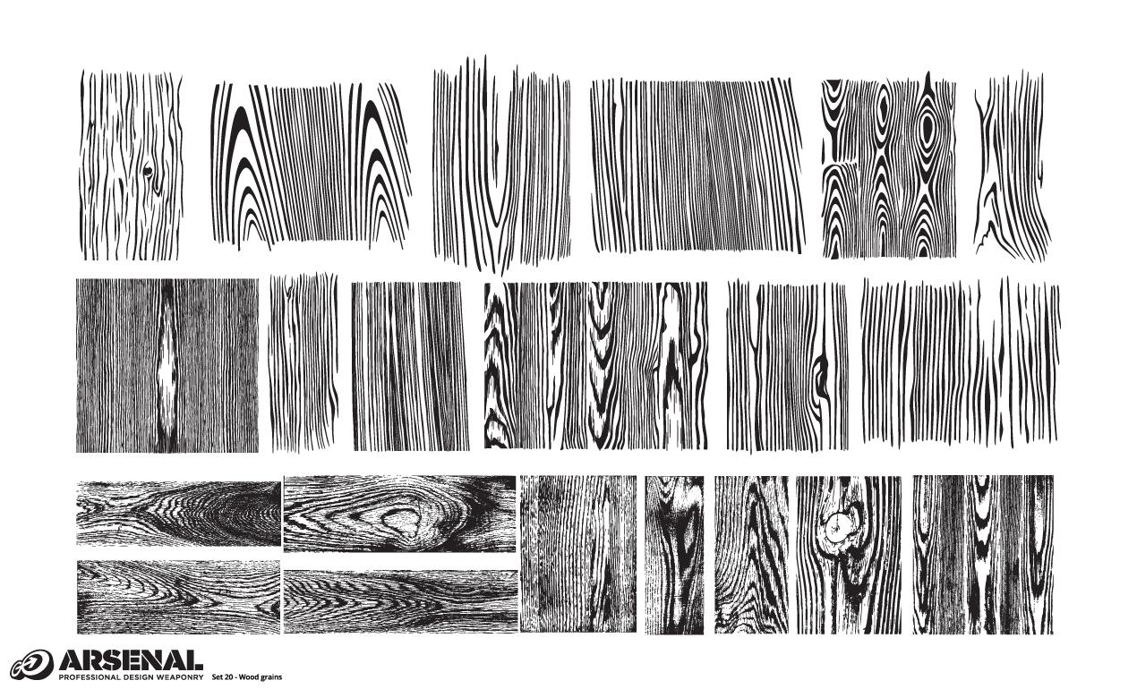 Set 20 Wood Grains