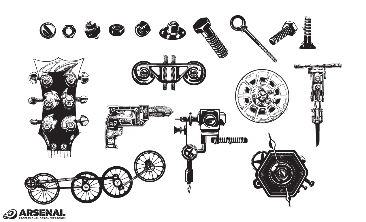 Nuts & Bolts Hardware Vector Pack