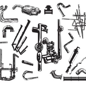 Pipes Vector Pack for Adobe Illustrator