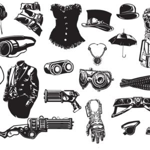Steampunk Fashion Vector Pack