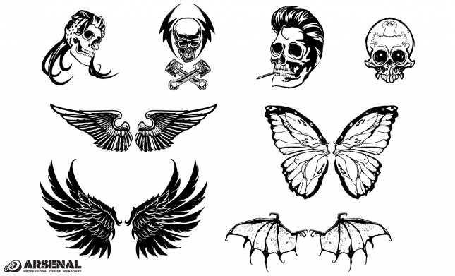 Skull & Wing Vector Pack by Go Media's Arsenal