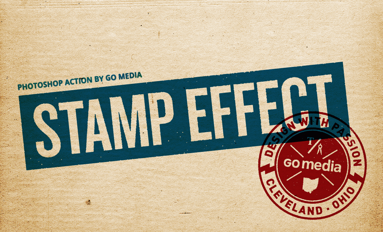 Vintage Stamp Effect Photoshop Action from Go Media