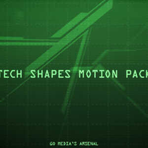 animated tech shapes for After Effects