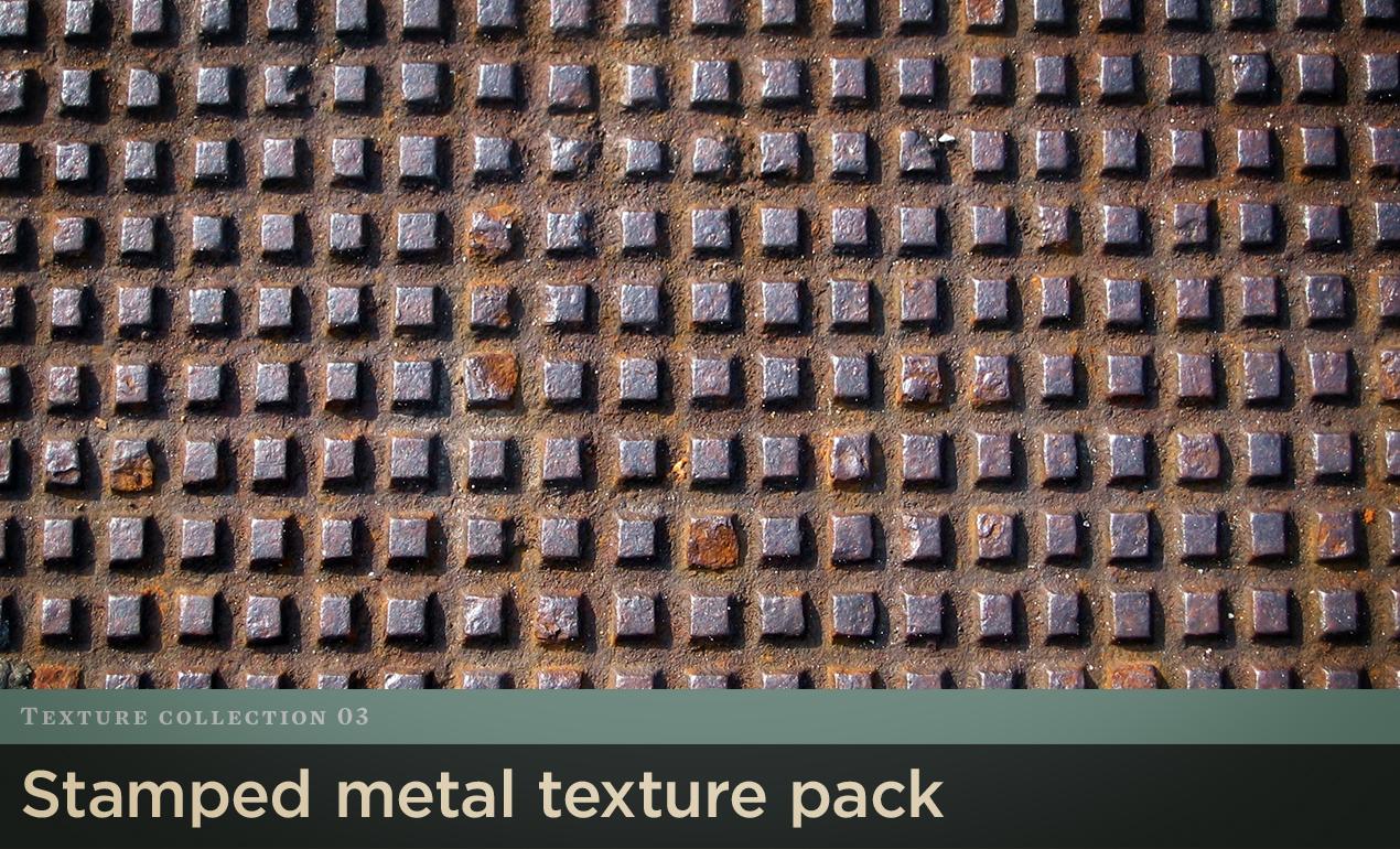 Stamped Metal Texture Pack