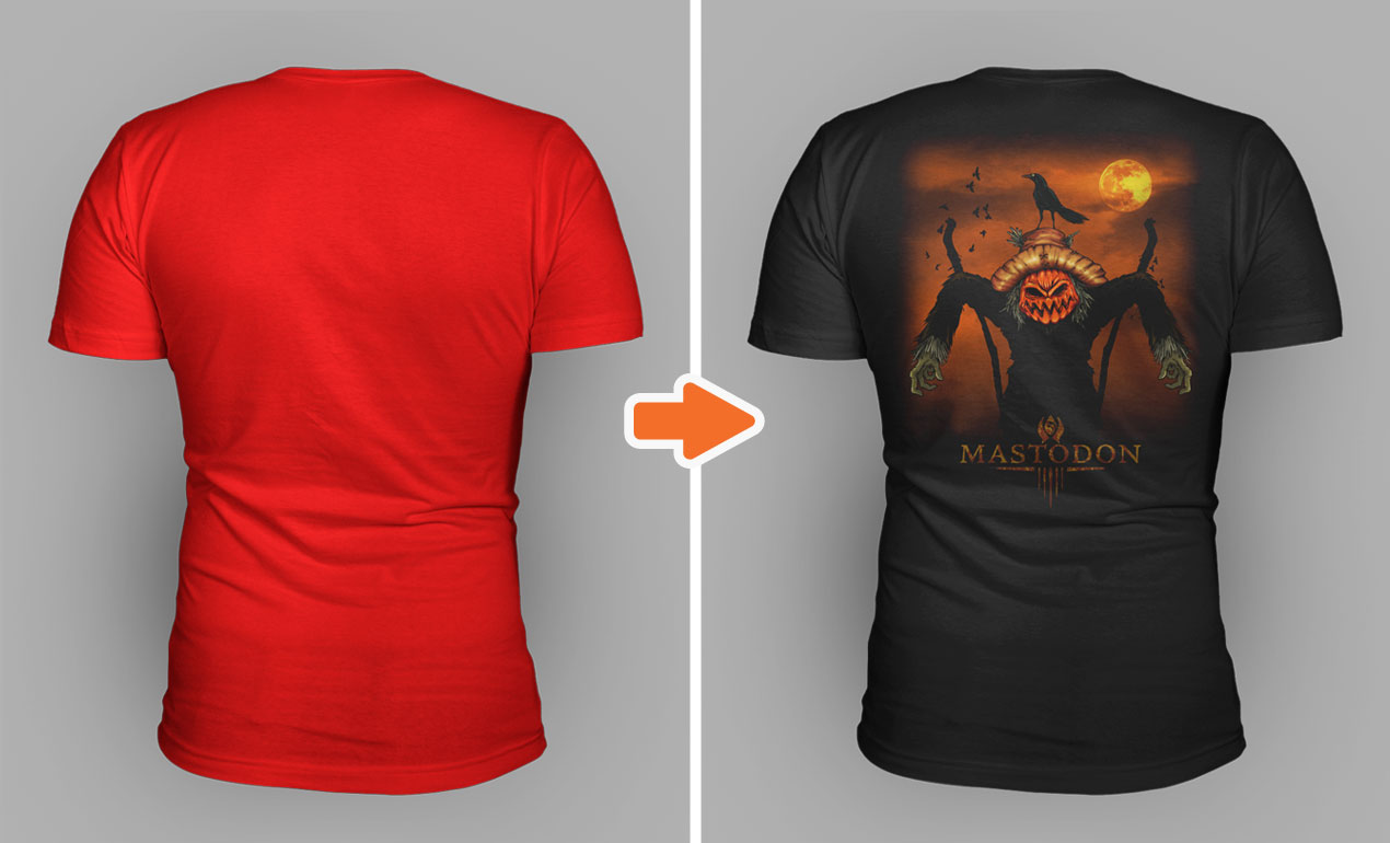 Photoshop V Neck Shirt Mockup Templates Pack