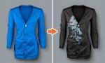 Adobe Photoshop Template Ladies Ribbed Pocket Cardigan 1