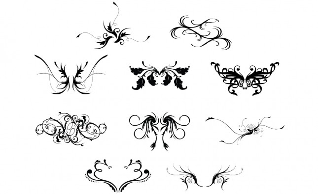 Hooladanders & Flourishes Ornate Vector Pack