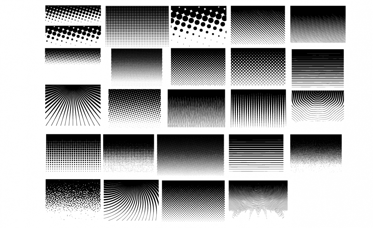 Halftone Patterns Vector Pack
