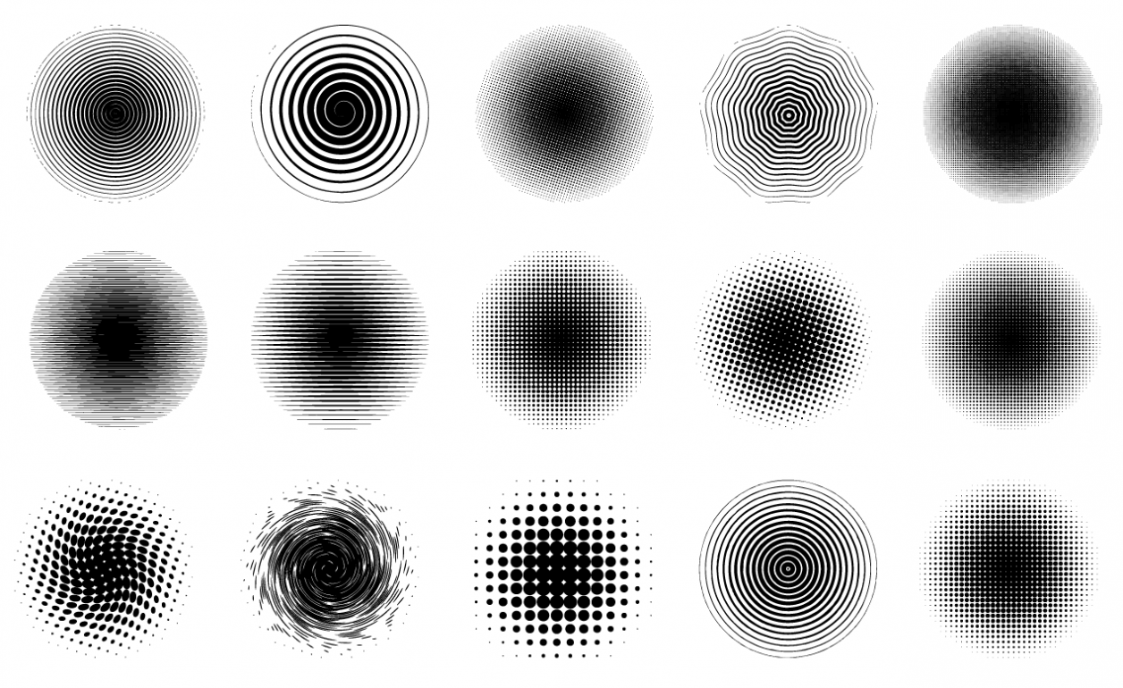 Adobe Illustrator Halftone Circle All