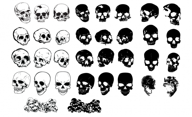 Skulls Vector Pack for Adobe Illustrator