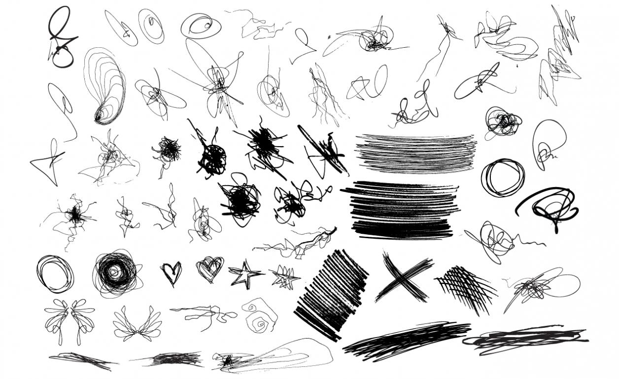 Adobe Illustrator Scribbles Vector Pack