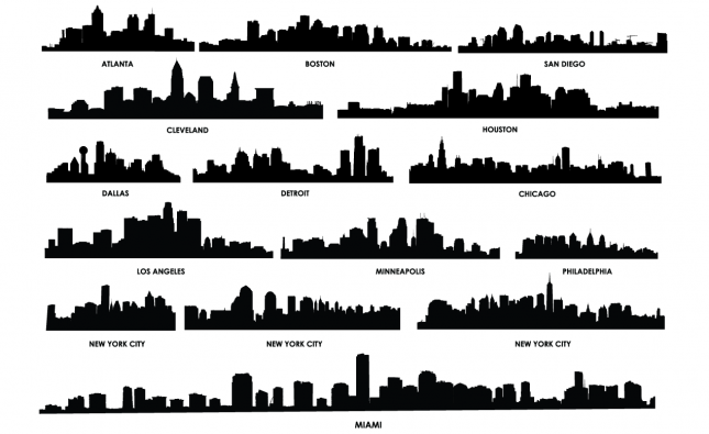 City Skyline Vector Pack for Adobe Illustrator