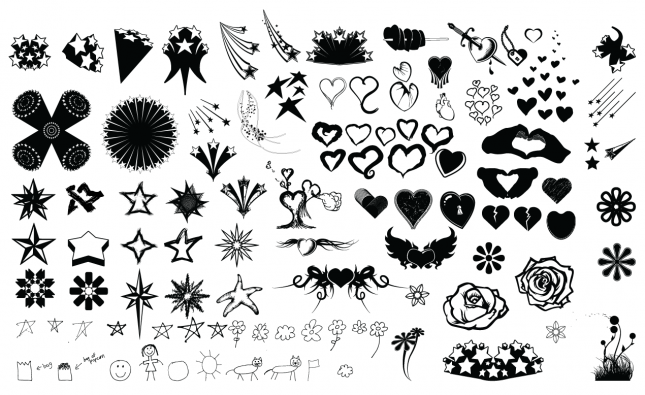 Stars And Hearts Vector Pack
