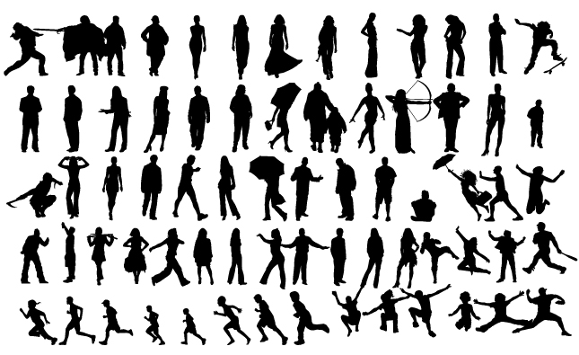 Human Silhouettes Vector Pack