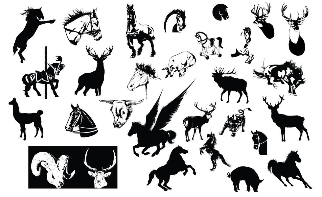 Adobe Illustrator Vector Set 10 Hooved Preview All