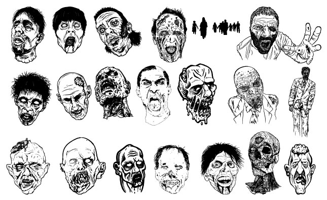 Zombies Vector Pack
