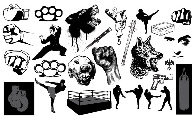 Fight Vector Pack for Adobe Illustrator