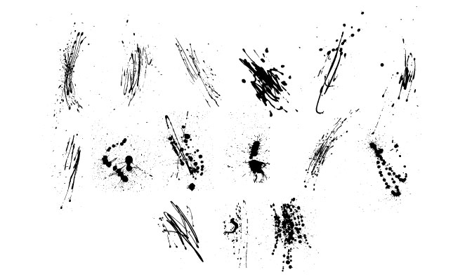 Grunge Drips Vector Pack