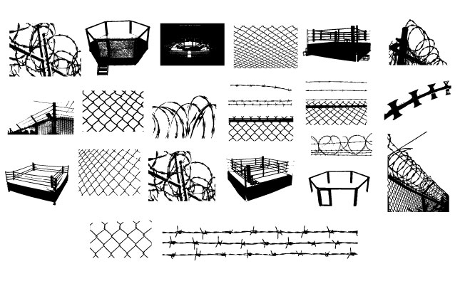 Adobe Illustrator Barbed Wire & Chain Link Vector Pack