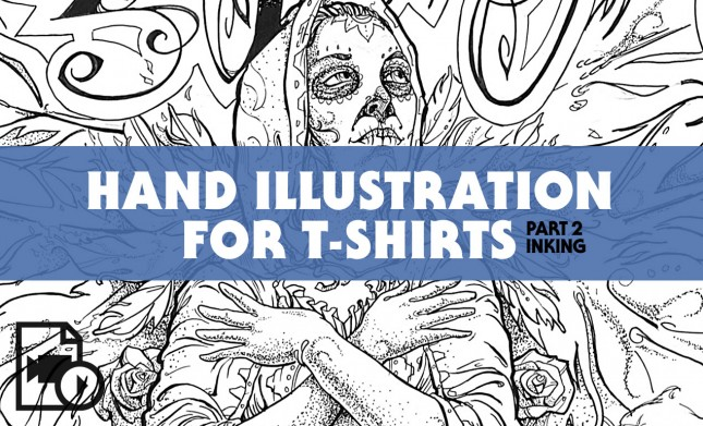 Hand Illustration for T-Shirts Tutorial from Go Media