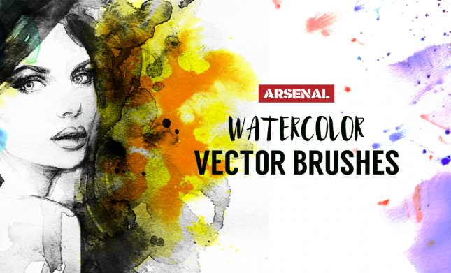 Watercolor Vector Brushes