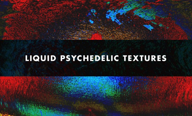 Liquid Projections Inspired Psychedelic Textures by Go Media
