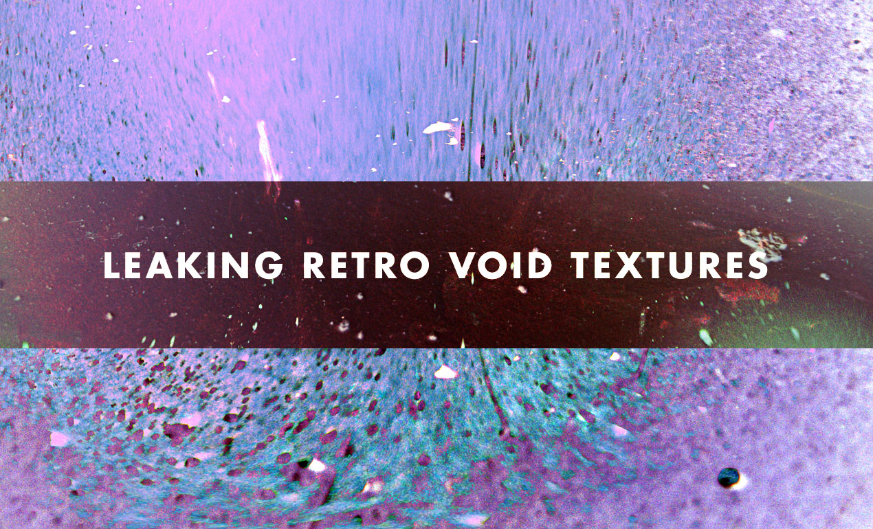 Leaking Purple Retro Voids Abstract Textures by Go Media