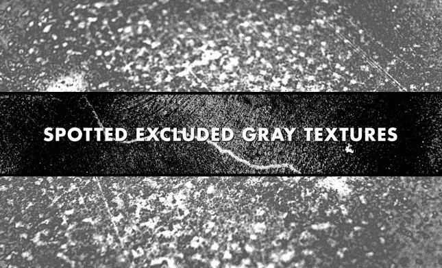 Spotted Excluded Gray Grunge Texture Pack by Go Media