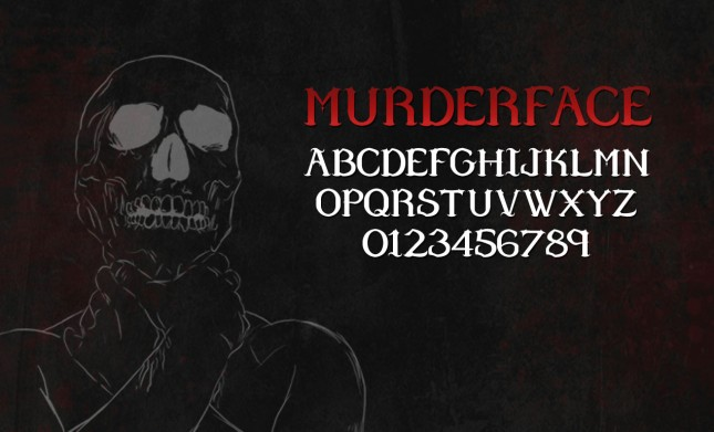 Murderface Serif Font by Go Media