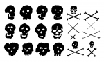 Skull and Crossbones Vector Pack